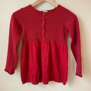 Children's Place Girls' Red Cardigan - Size M 7/8